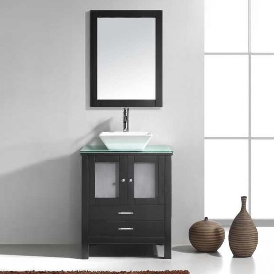 Virtu USA - MS-4428-G-ES-001 - Brentford 28 in. Bathroom Vanity Set front view
