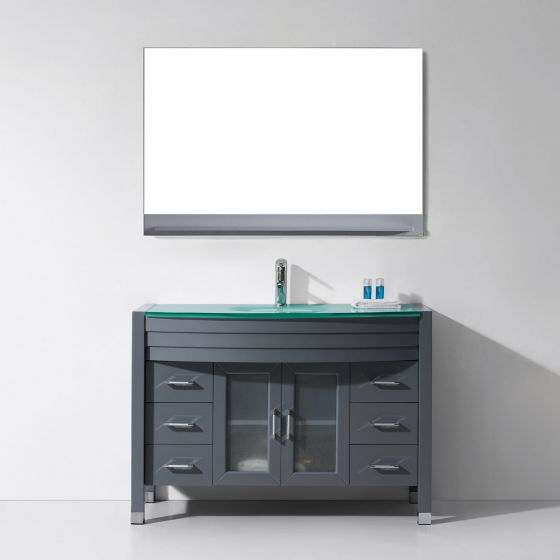 Virtu USA - MS-509-G-GR-001 - Ava 48 in. Bathroom Vanity Set front view