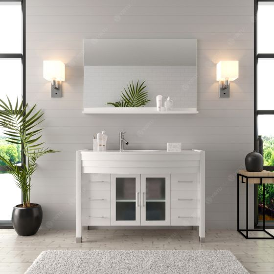 Virtu USA - MS-509-S-WH-001 - Ava 48 in. Bathroom Vanity Set front view