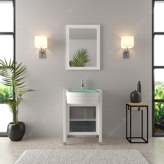 Virtu USA - MS-545-G-WH - Ava 24 in. Bathroom Vanity Set front view