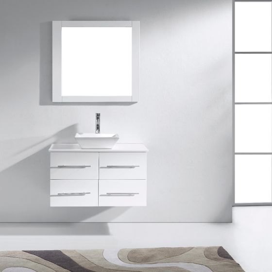 Virtu USA - MS-565-S-WH-001 - Marsala 35 in. Bathroom Vanity Set front view