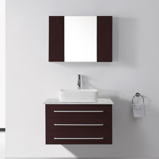 Virtu USA - UM-3036-WM-ES - Ivy 36 in. Bathroom Vanity Set front view