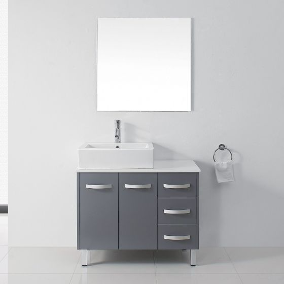 Virtu USA - UM-3069-S-GR - Tilda 36 in. Bathroom Vanity Set front view
