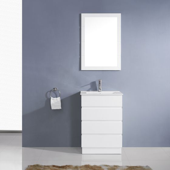 Virtu USA - UM-3085-C-WH - Bruno 24 in. Bathroom Vanity Set front view