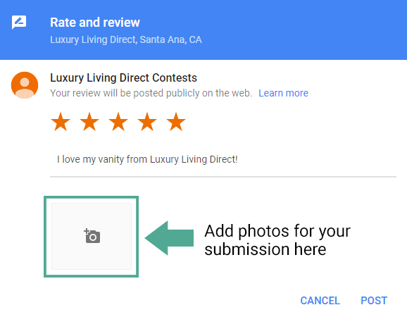 Luxury Living Direct Photo Contest Google Submission