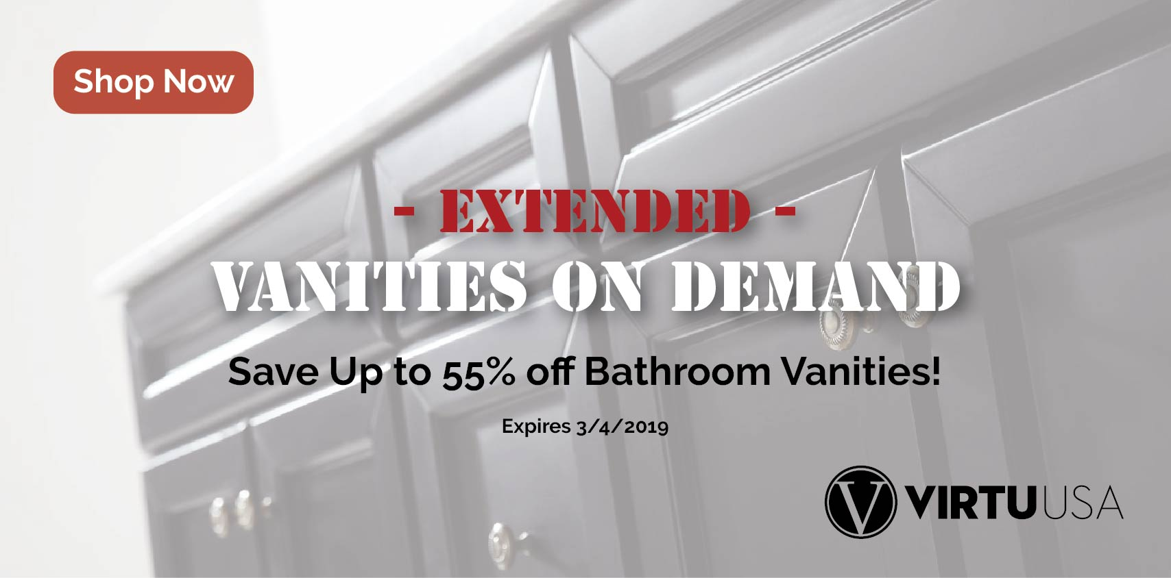 55% off Bathroom Vanities