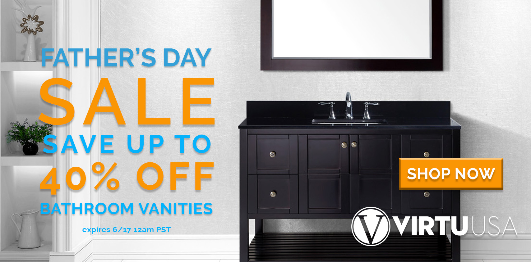 40% off Bathroom Vanities