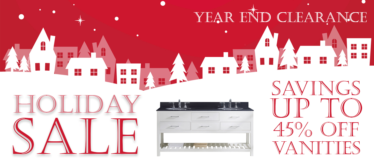 Bathroom Vanities Holiday Sale Banner 2017