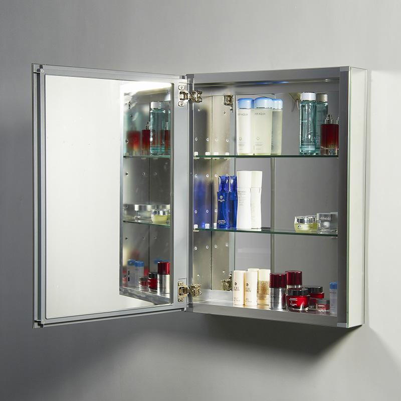 Virtu USA JMC-67620 Confiant 20 inch Medicine Cabinet in Mirrored