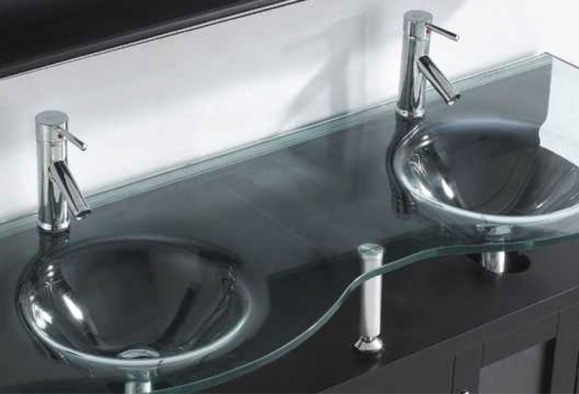 Glass Top Bathroom Vanities