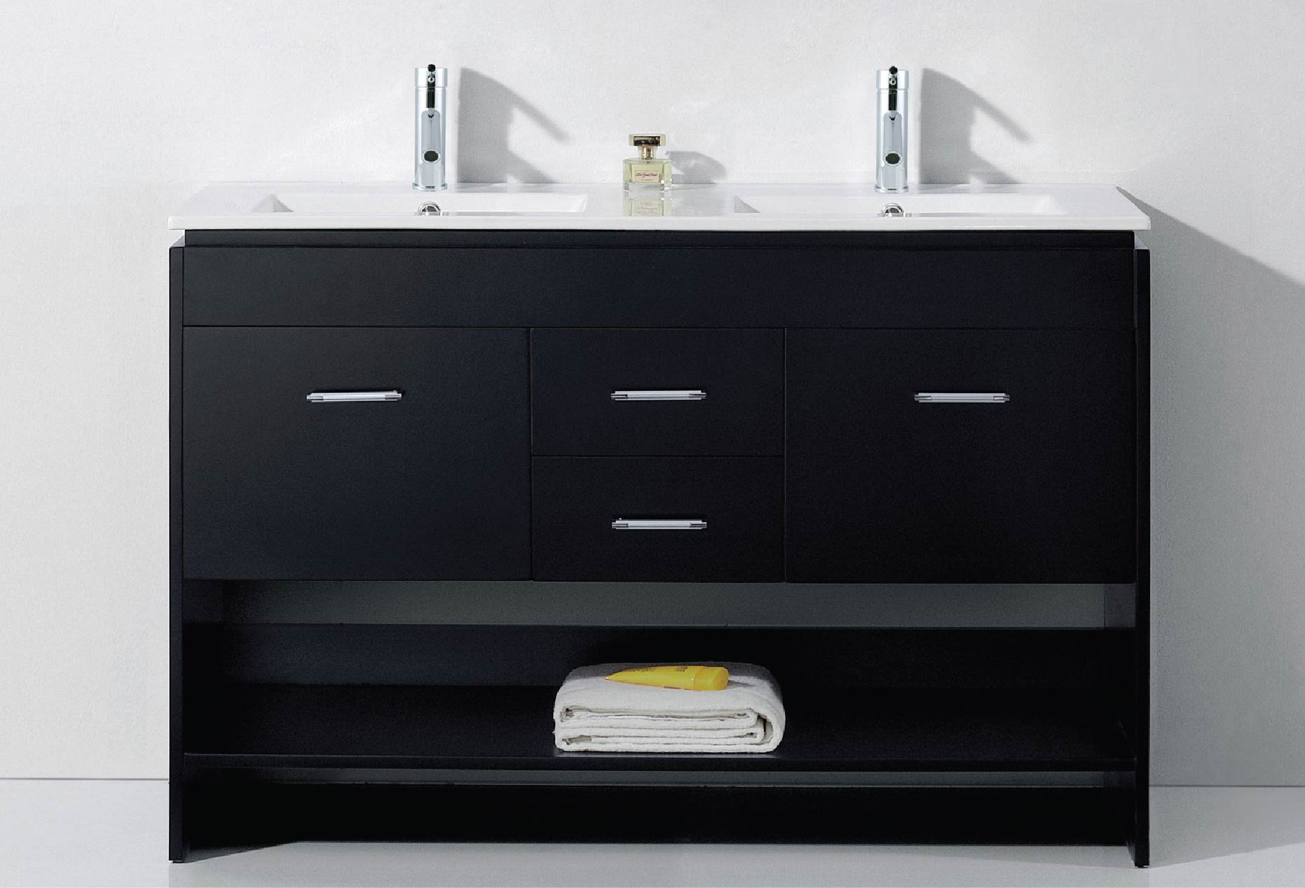 Open Bottom Shelf Bathroom Vanities