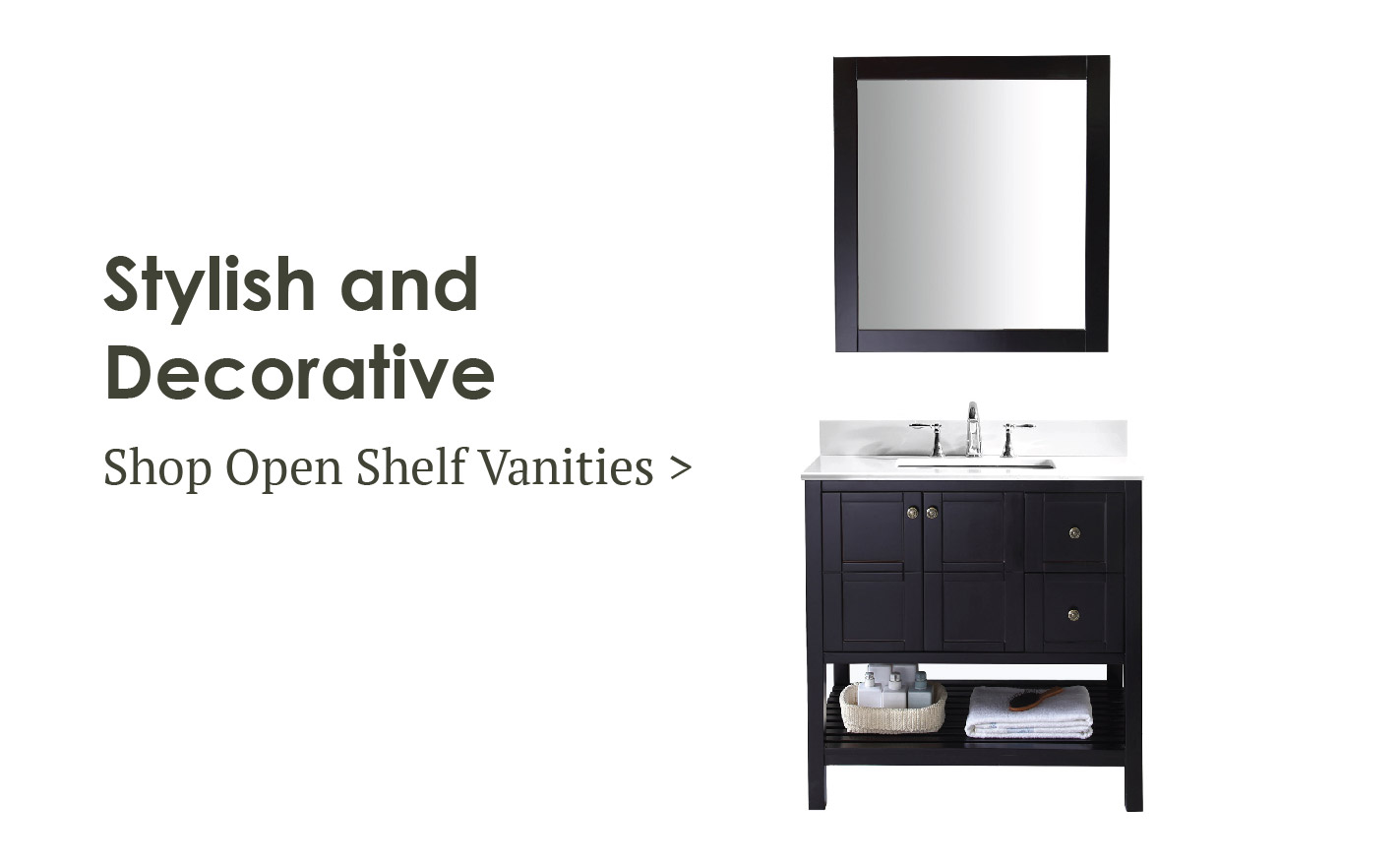 Open Shelf Vanity Sale