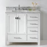 Vanities with Marble Tops