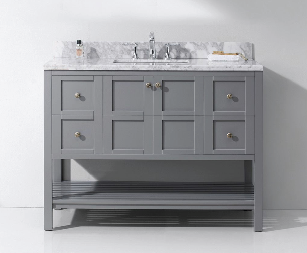 Open Shelf Bathroom Vanities