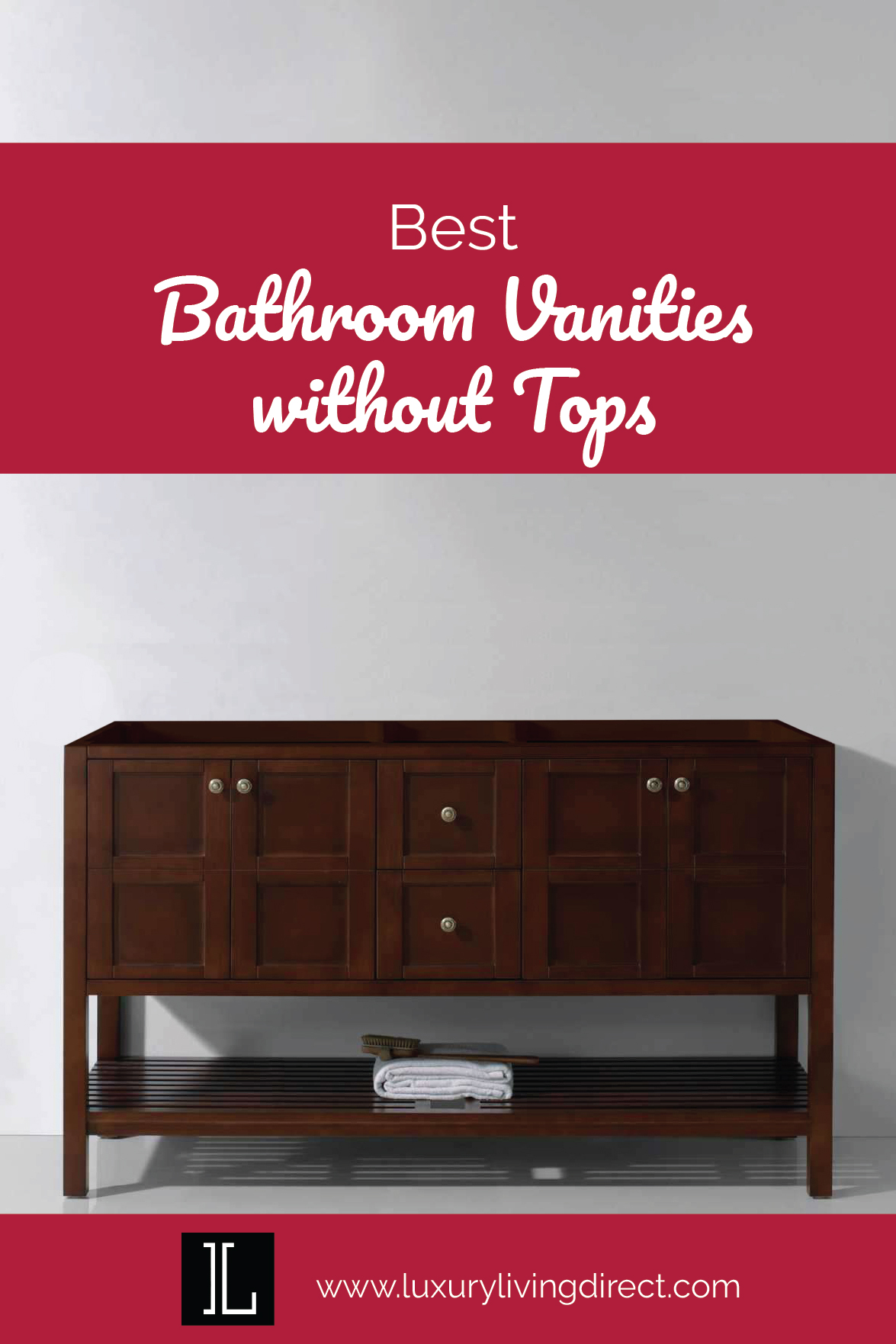 Contemporary Bathroom Vanities Without Tops Decor