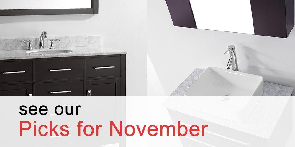 Top Bathroom Vanities for November 2017